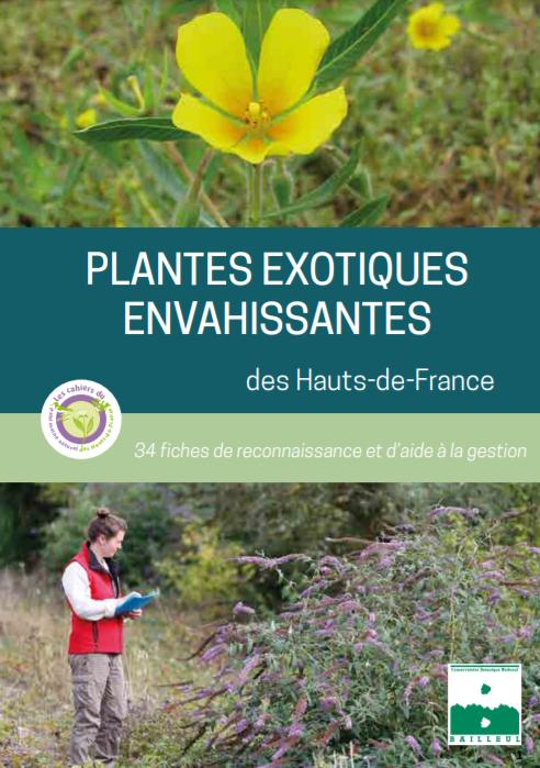 Couverture du guide Plantes exotiques envahissantes des Hauts-de-France - CBNBl