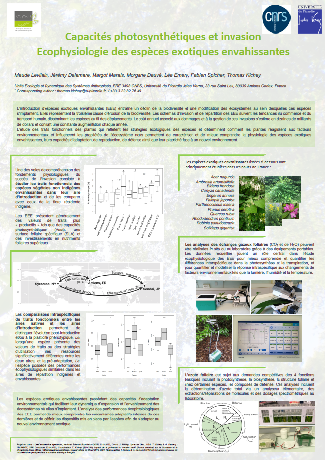 Poster. Capacités photosynthétiques et invasion