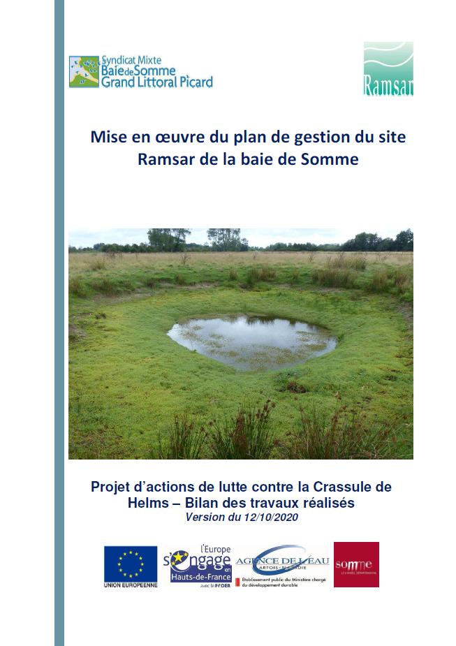 Mise en oeuvre du plan de gestion du site Ramsar de la baie de Somme
